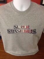 Super Smash Bros. Gray T-shirt S,m,l, Xl,2xl, Or 3xl