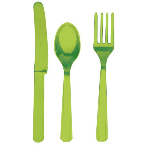 Grillbesteck Set mit Messer Löffel Gabel 24-tlg Tischdeko Plastikbesteck stabil