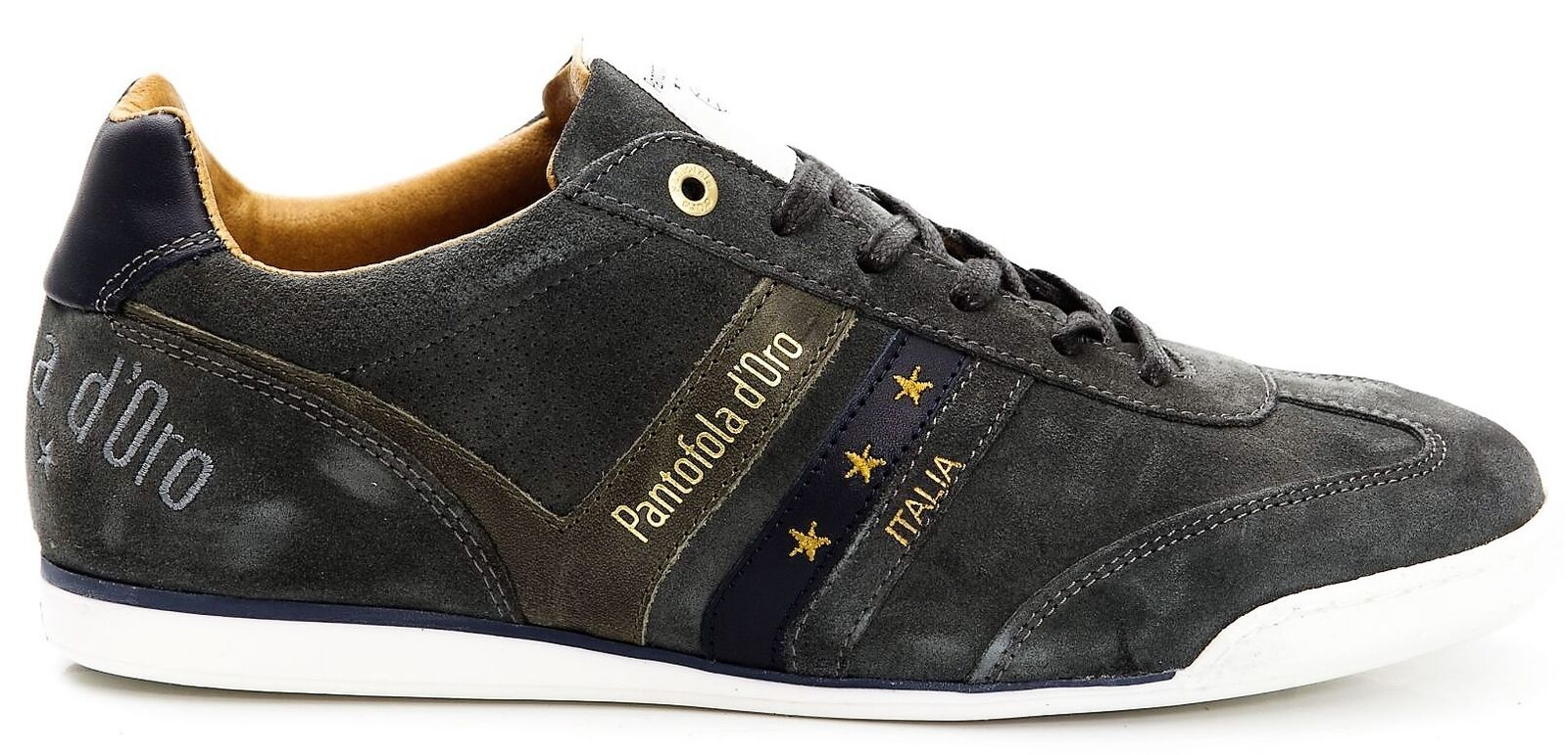 Leather Sneakers shoes Man Pantofola d'gold Men Extensive Suede Low 101