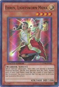 EHREN-LIGHTSWORN-MONK-x3-3x-cards-CT08-EN016-Yugioh-Holo-Foil-Rare-NM-Card