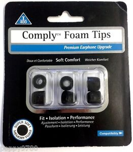 Comply-T-400-Isolation-Earphone-Ear-Foam-Soft-Comfort-Tips-Piece-Bud-Gels-Medium
