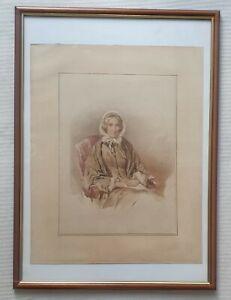 Eden-Upton-Eddis-1812-1901-genuine-large-original-water-colour-painting-Jane-Orr