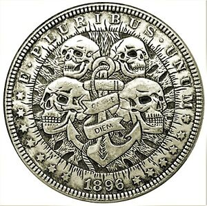 Four-Fates-Novelty-Heads-Tails-Good-Luck-Token-Coin-US-SELLER-FAST-SHIPPING