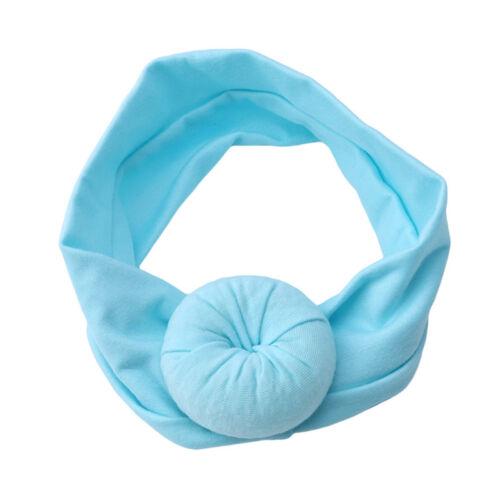 Baby Girls Kids Toddler Bow Hairband Headband Stretch Turban Knot Head Wrap WE