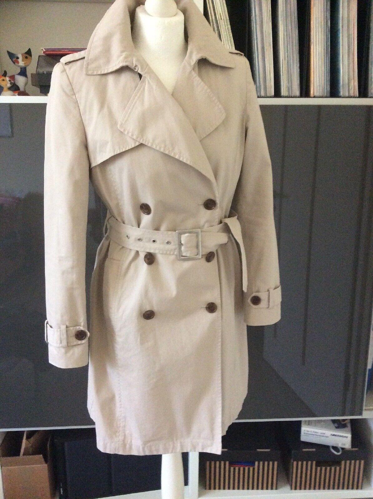 Stefanel Trenchcoat Mantel Beige Gr. S  36