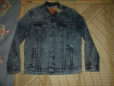 Mens Xlarge Black/gray Levi's Standard Button Front Jacket Nwt Shirts