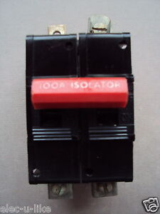 DORMAN SMITH LOADMASTER 100A ISOLATOR M3 BS3871 MAIN SWITCH DISCONNECTOR