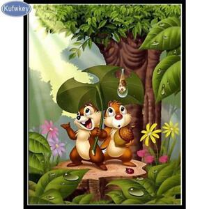 92f3a1f6ba Image is loading 5D-Diamond-Painting-Chip-and-Dale-Rain-Storm-