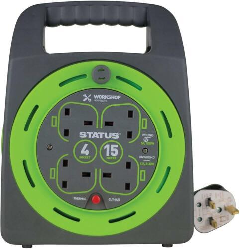 Câble D/'extension Multi Plug Socket Power 2 4 Gang Way 5 10 15 18 20 25 50 Mètre
