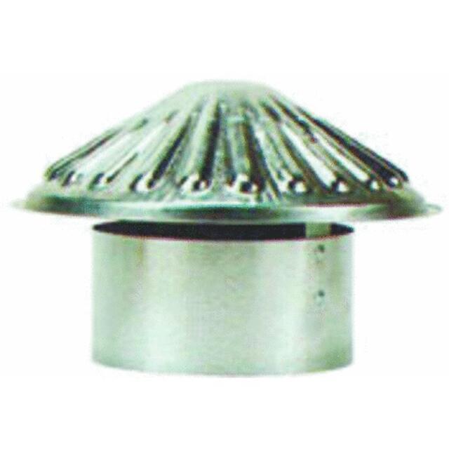 "6"" VENT PIPE CAP rain cap galvanized stove pipe chimney ventilation heating NEW"