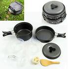 Cooking Picnic  Bowl Pot Pan Portable 8pcs /Set Outdoor Hiking Camping Cookware