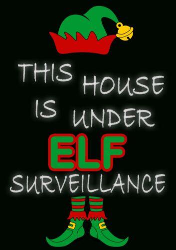 Cette maison est sous ELF surveillance Métal Mural Signe