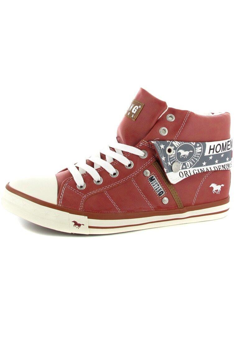 Mustang zapatos hightopzapatilla de deporte en en en talla extragrande grandes zapatos señora rojo XXL  muy popular