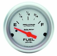 Autometer Ultra-lite Electric Universal Gm Chevy Fuel Level Gauge 2-1/16 (52mm)