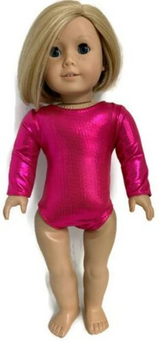 "Metallic Hot Pink Leotard Gymnastics made for 18/"" American Girl Doll Clothes"