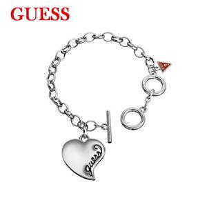 GUESS-Damen-Armband-Armkette-Schmuck-Metall-Silber-Farben-Herz-UB306500