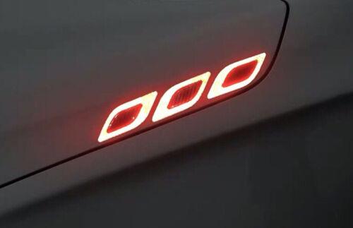 Car Side Fender 5D Protector Sticker Carbon Fiber Reflective Strip Decal Blue