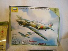 Zvezda Soviet Fighter Lagg 3 Model Kit 6118 Snap Together 1144 Airplane Wargame