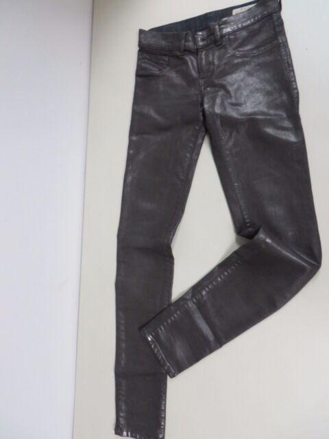 43a0dc6d DIESEL Livier super slim legging low waist stretch waxed gray jeans 24 Ret  $198