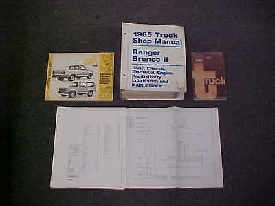 1985 RANGER BRONCO II 2 SERVICE SHOP REPAIR MANUAL 85 + WIRING DIAG SPECS EVTM