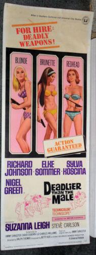 DEADLY SEXY BIKINI BABES orig ROLLED 1967 movie poster ELKE SOMMER/SYLVA KOSCINA