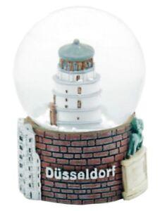 Schneekugel-Duesseldorf-Burgturm-Koenigsallee-Snowglobe-Germany-Souvenir
