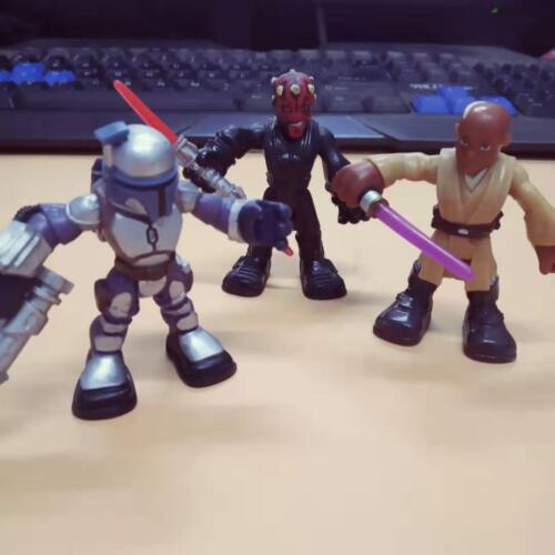 Playskool Força Jedi Darth Maul Jango Fett Galactic Heroes Set Bonecos Star Wars