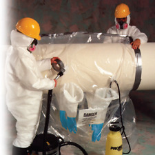"Continuous Roll of 25 44/"" x 60/"" Asbestos Glove Bag System for Abatement"