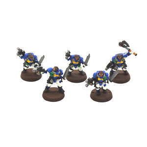 SPACE-MARINES-5-scout-4-METAL-WP-Warhammer-40K-Scouts