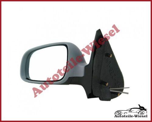 Man lackierbar für VW Polo 6N2 10.99-09.01 Außenspiegel Links Asph