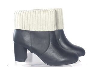 9448b070d797 New Torrid Black Leather Sweater Knit Top Ankle Boot Booties Wide ...