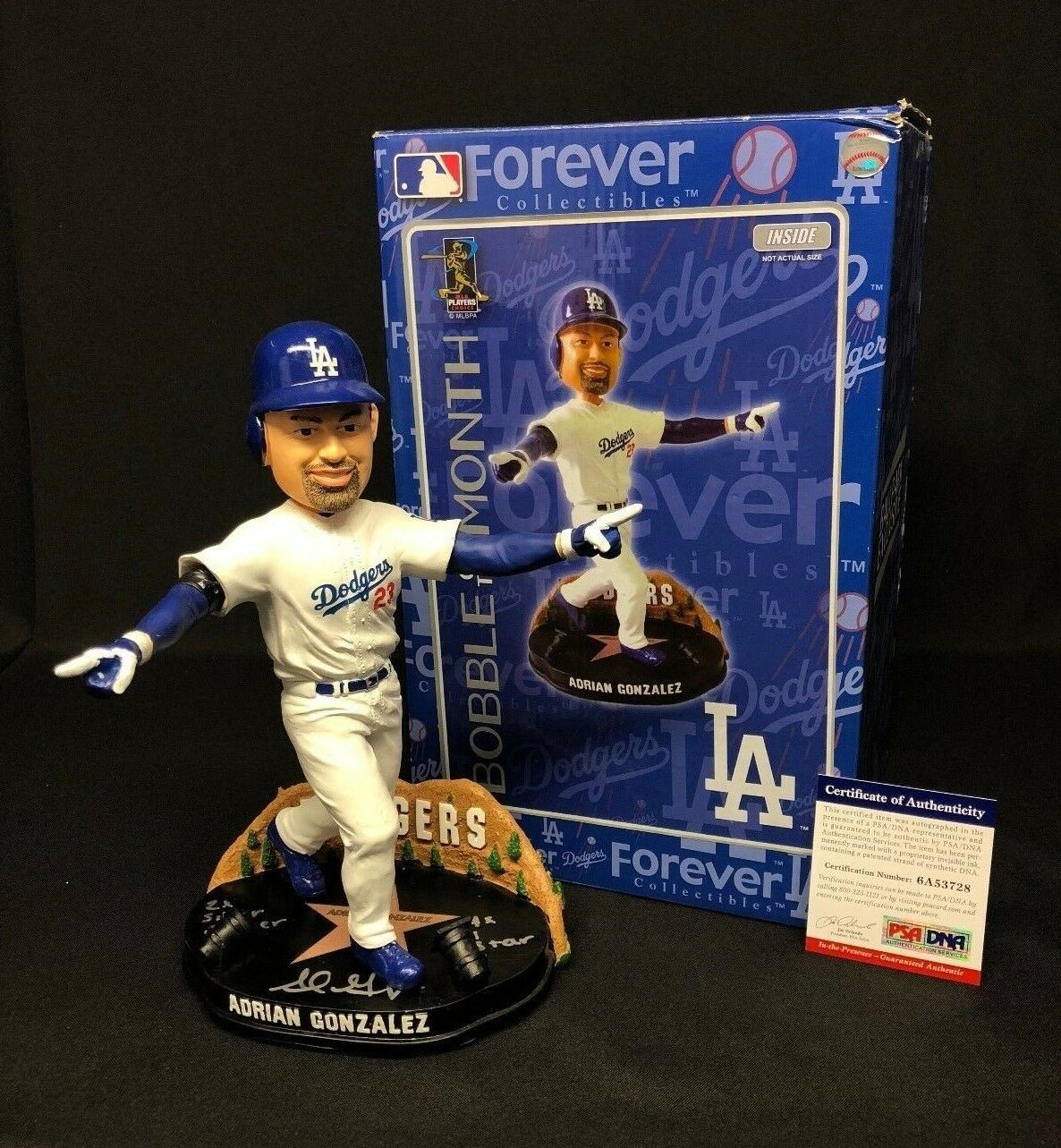 Adrian Gonzalez Signed Los Angeles Dodgers Forever Bobblehead PSA 6A53728