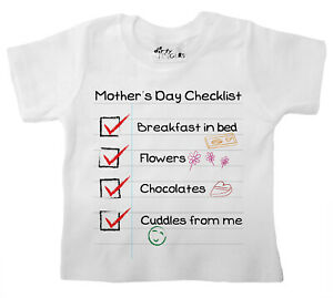 Dirty-Fingers-Mother-039-s-Day-Checklist-Baby-Boy-T-Shirt-Funny-Gift-for-Mummy