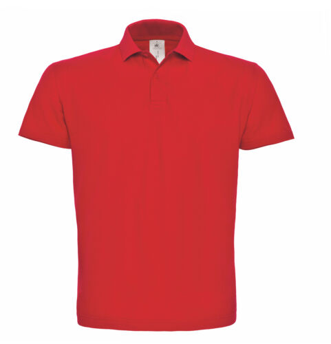 B/&C Collection ID.001 POLO PU110-Uomo Aderente Manica Corta Maglietta Sport Plain