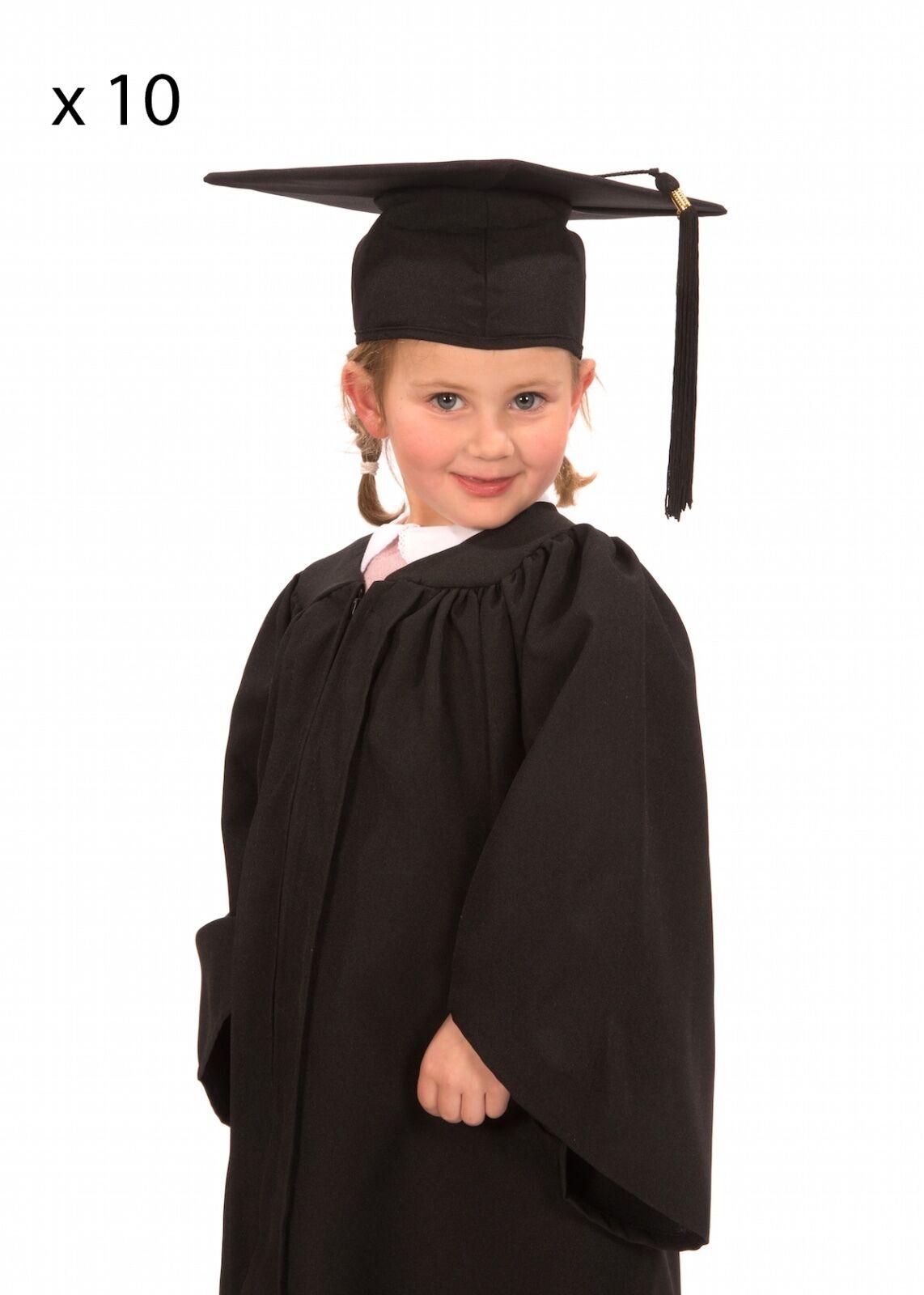 10 X Enfants'S Nursery toge et Cap-Matte