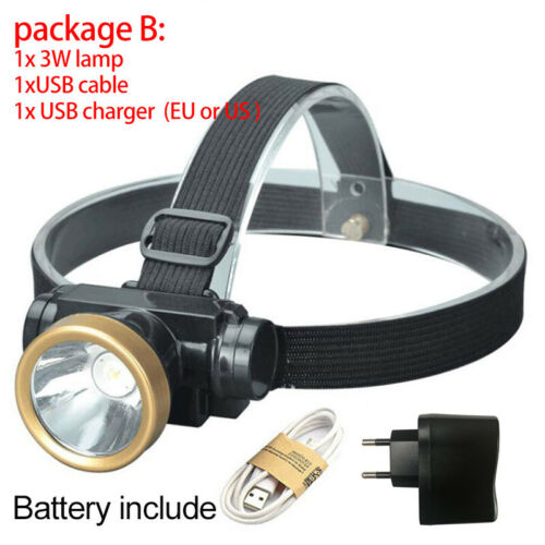 Powerful USB rechargeable Head Lamp Torches Led T6 Headlamp flashlight camping