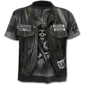 3D-Skull-Print-Funny-T-Shirt-Men-039-s-Casual-Short-Sleeve-Tops-Fashion-Tee-S-4XL