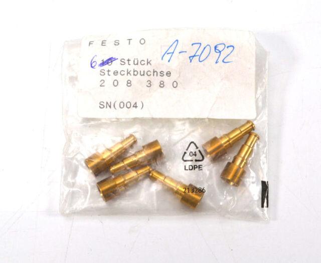 Festo 208380 Steckbuchse 6 Stück OVP