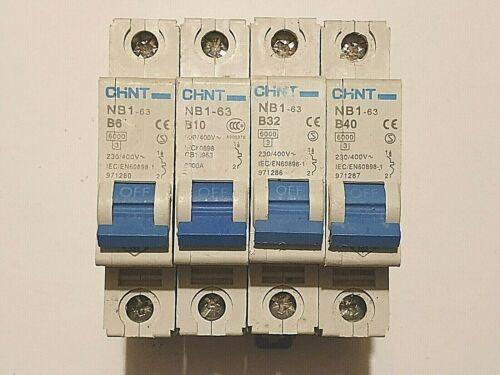 Chint 6A 10A 16A 40A MB BS 60898 Type B 6KA Single Pole 230v 240v ...