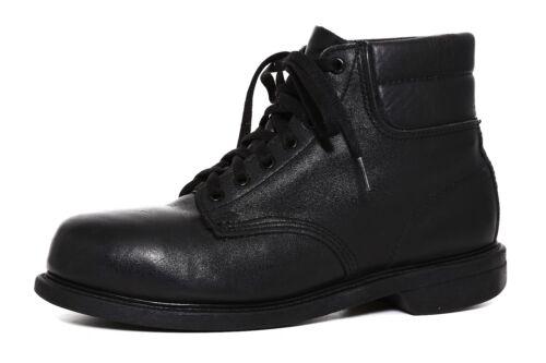 Bates Lace Up Leather Ankle Boot Black Men Sz 9 M