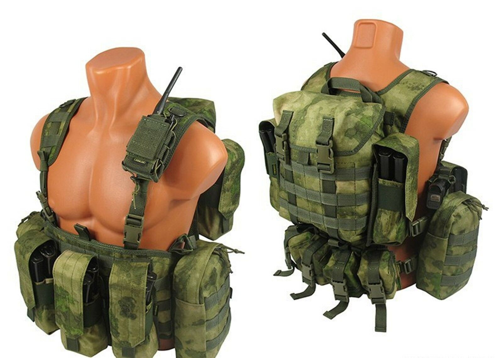 Tactical molle Modular  paintball vest airsoft chest rig a-tacs fg atacs kit №2  leisure