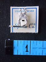 Vintage Surfing Surfer Sterling Silver Charm For Necklace Bracelet