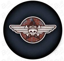 Bull-LEDs   Bike Harley Enfield Emblems Vinyls Decals -WrenchSkull Sticker 2pcs