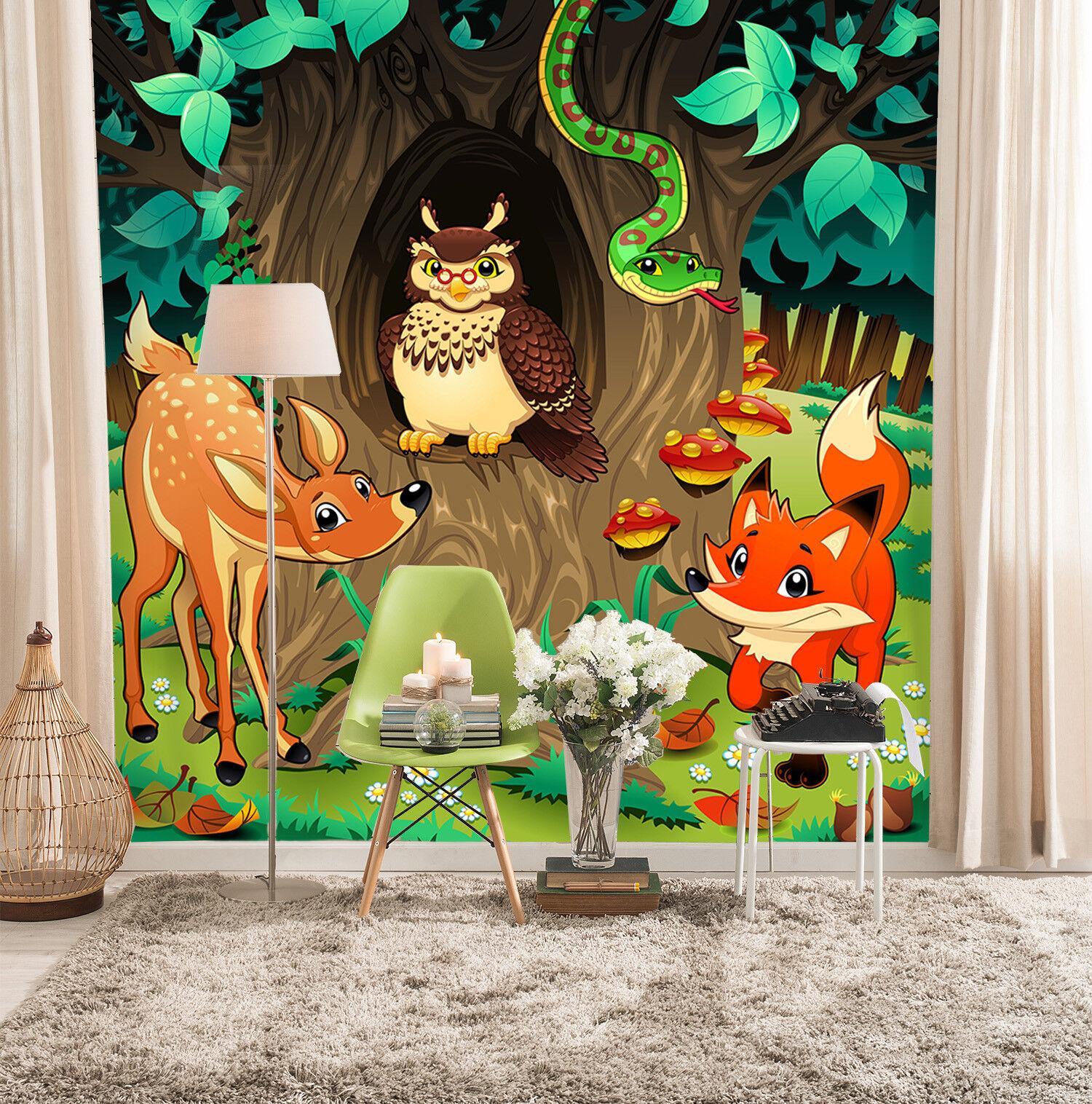 3D Karikatur Tier Kind 9058 Tapete Wandgemälde Tapeten Bild Familie DE Lemon