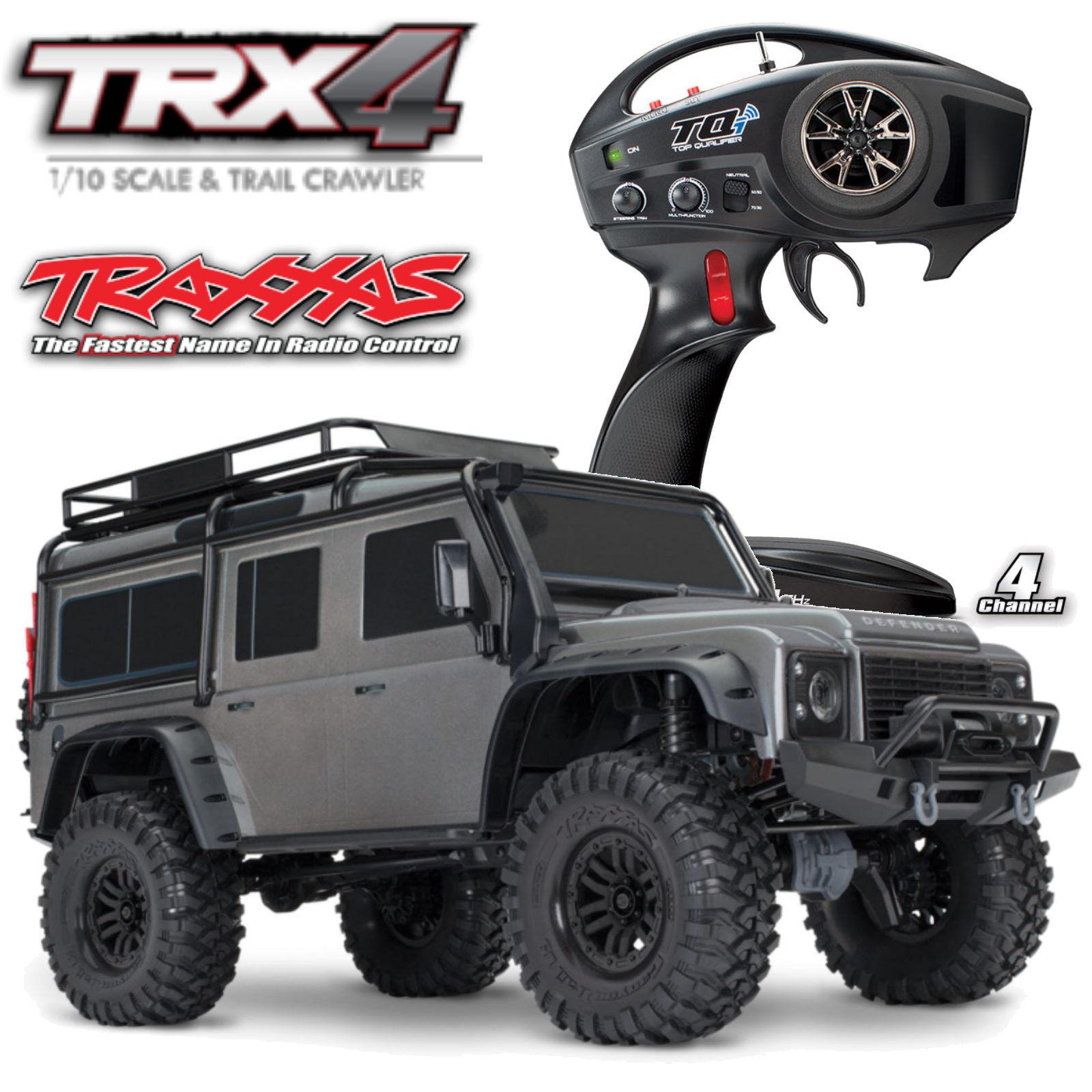 Traxxas trx82056-4 plata trx-4 Land Rover Crawler rojo 1-10 Crawler 2,4 GHz