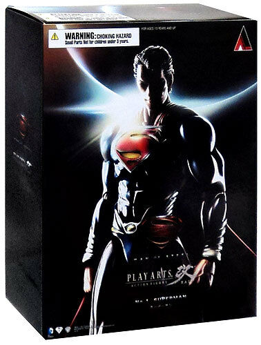 PLAY ARTS KAI DC COMICS MAN OF STEEL SUPERMAN  9 ACTION FIGURE NEW AUTHENTIC