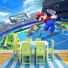 HQ Wall Mural Super Mario Bros Tenis Games  Photo Wallpaper Kids Room 122