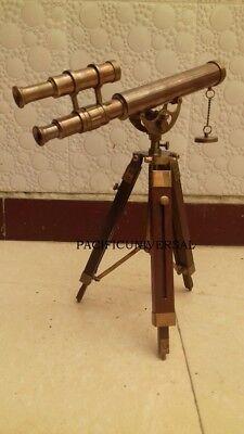 Antique Solid Brass Telescope Navy Ship Maritime Pocket Telescope Collectible