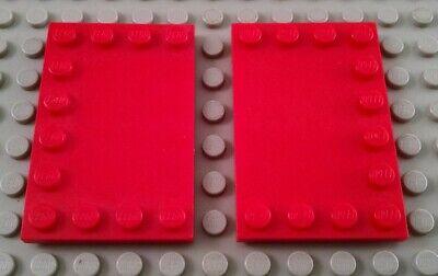 LEGO Lot of 2 White 4x6 Edge Stud Tiles