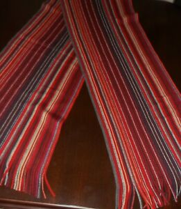 Next-RED-MIX-STRIPED-LONG-SCARG